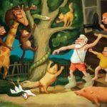 «Нападение африканских животных на доброго крестьянина» и другие психоделические картины Николая Хапилова